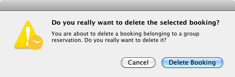 prompt if a booking should really be deleted