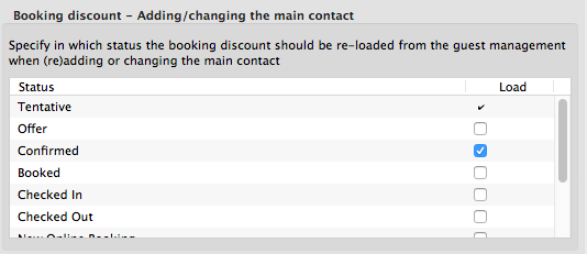 settings to specify when the main contact of a booking can be changed