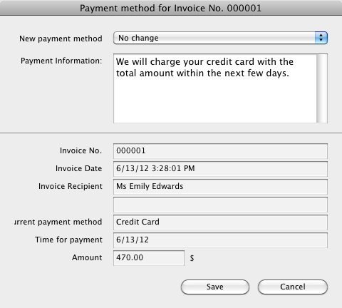 Select a new payment method